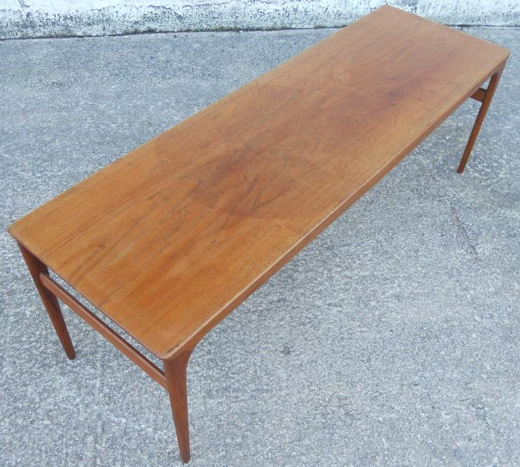 1960 S Retro Teak Long Coffee Table Sold