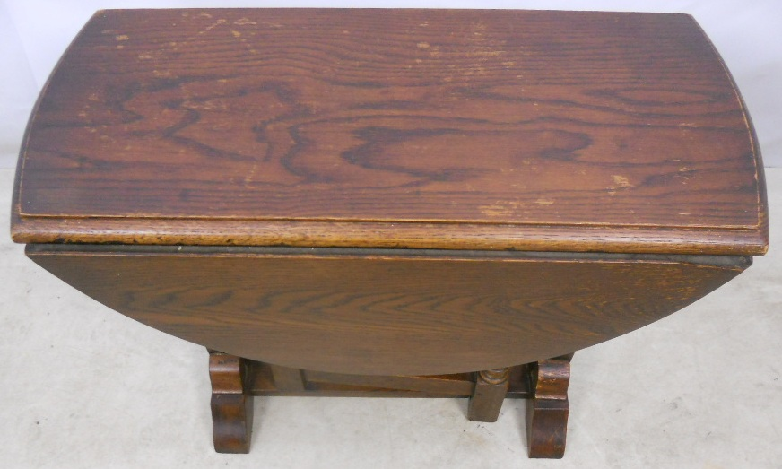 Antique Jacobean Style Oak Gateleg Coffee Table By Reprodux