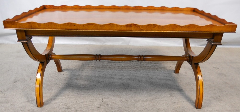 Antique Regency Style Yew Coffee Table By Reprodux Sold