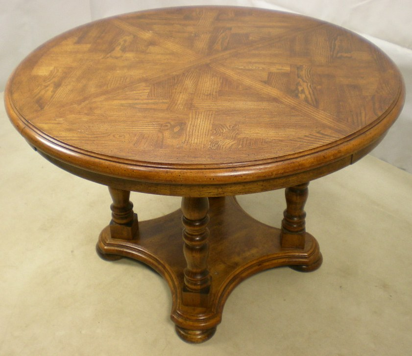 Antique Style Circular Centre Extending Dining Table SOLD