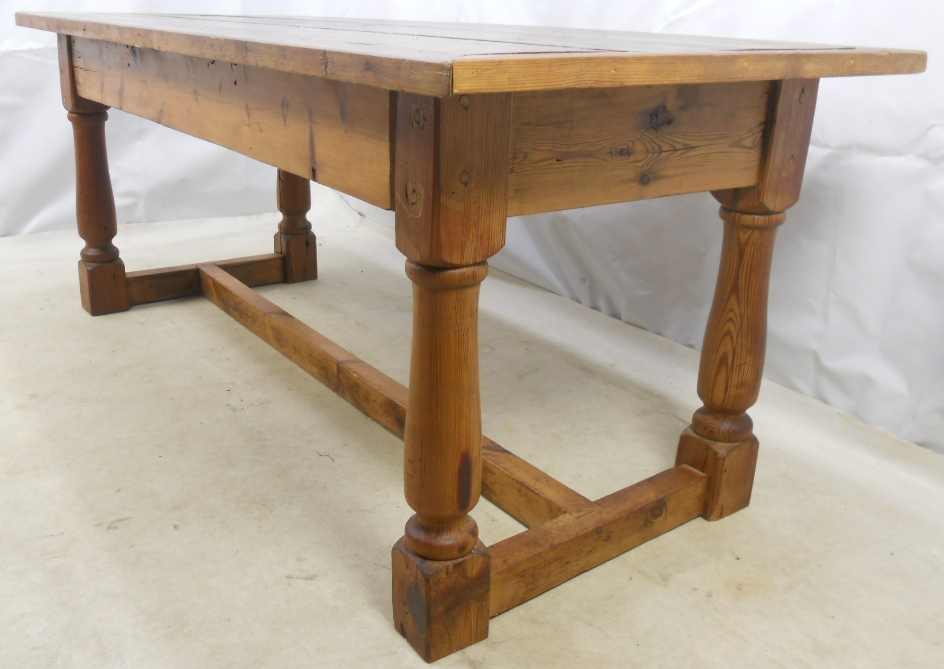 Dining Table In The Jacobean Style Having Turned Legs And Central Base