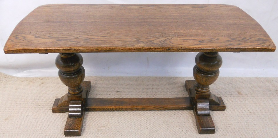 Antique Style Oak Refectory Coffee Table