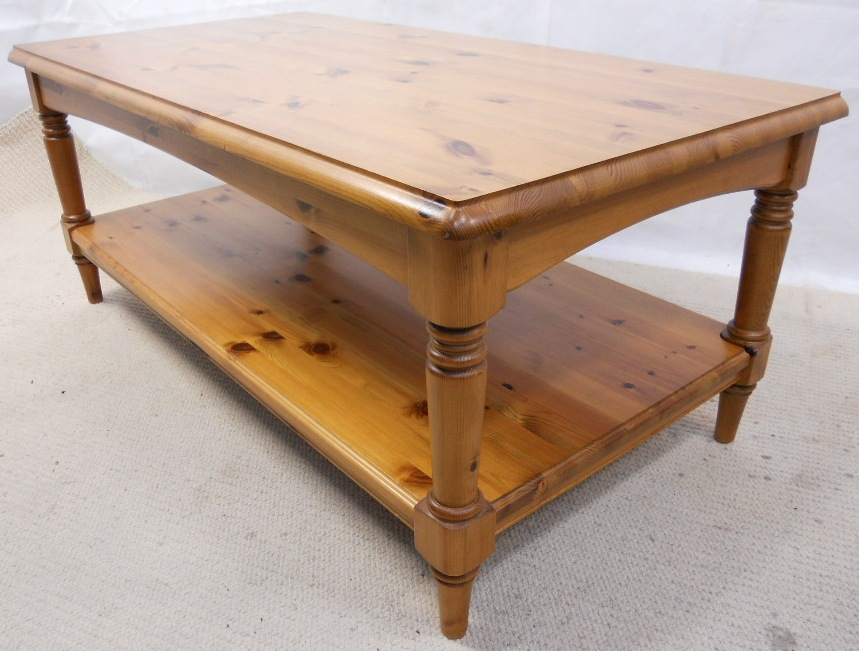 Antique Style Pine Long Coffee Table By Ducal Sold
