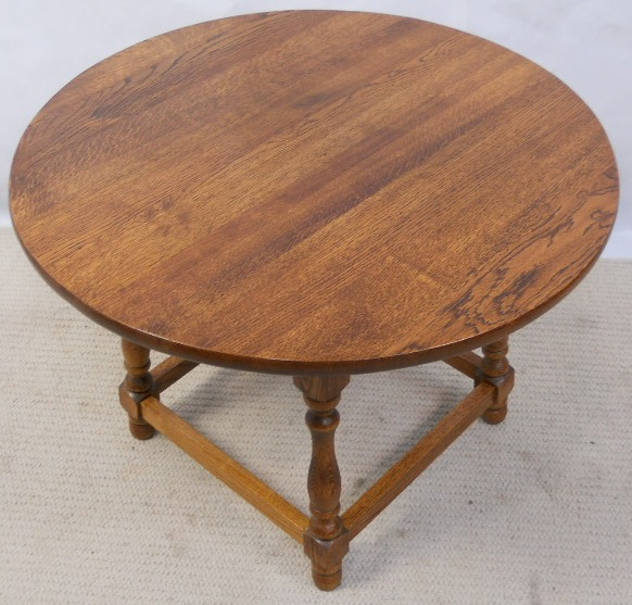 Antique Style Round Oak Coffee Table Sold