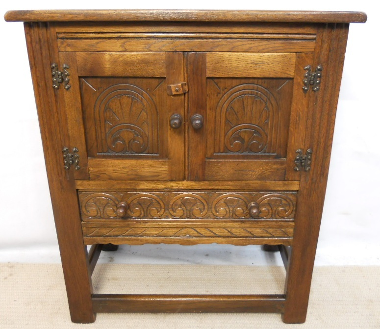 Carved Oak Small Cabinet Cupboard Sold