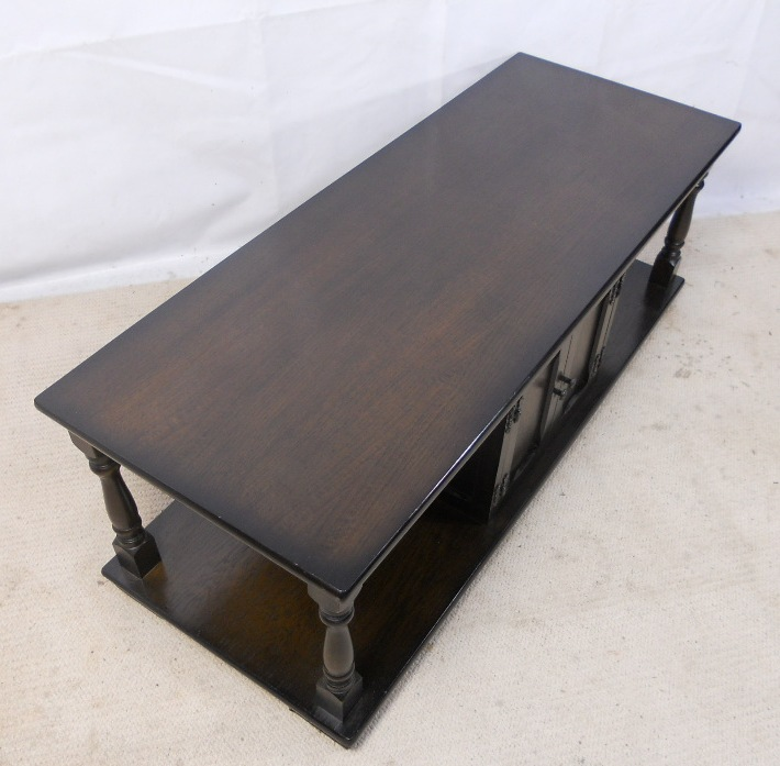 Dark Beech Long Coffee Table Cabinet Sold