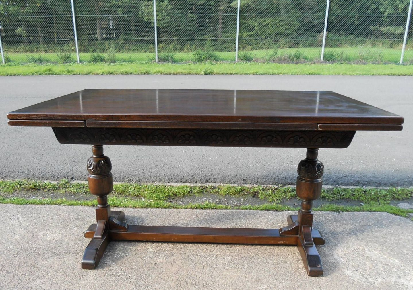 dark oak extending dining table to seat eight by jaycee sold
