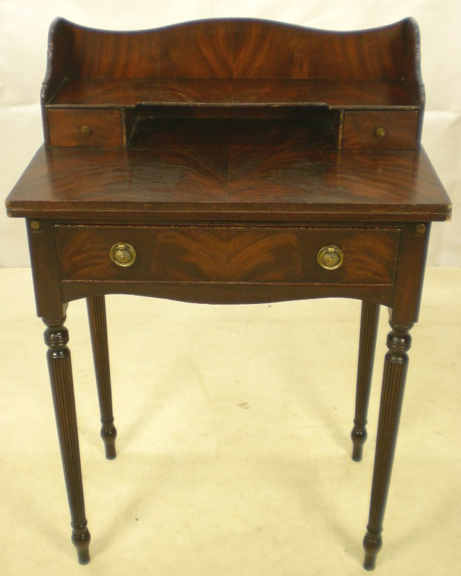 Ladies Writing Desk ~ Edwardian style mahogany ladies writing desk sold