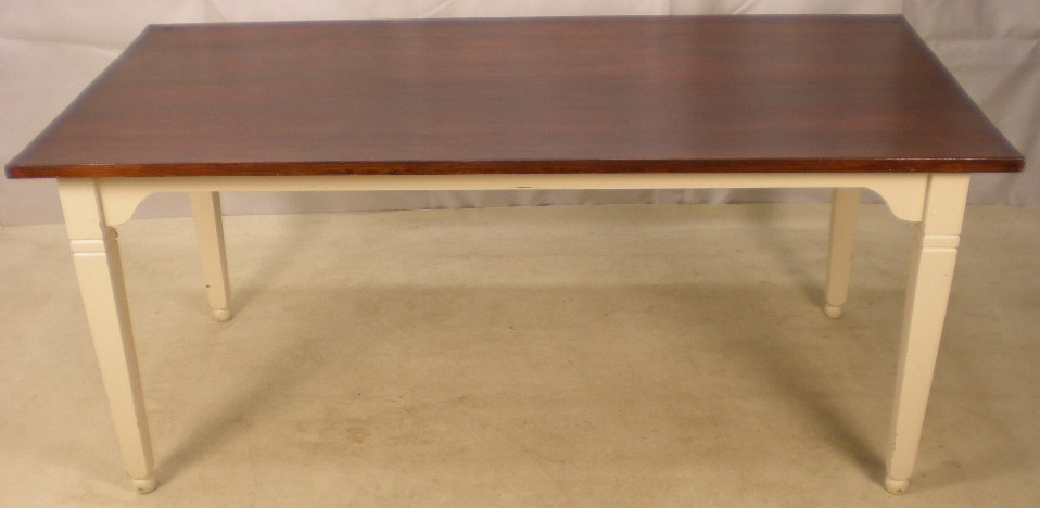 Farmhouse Style Kitchen Dining Table Painted Base