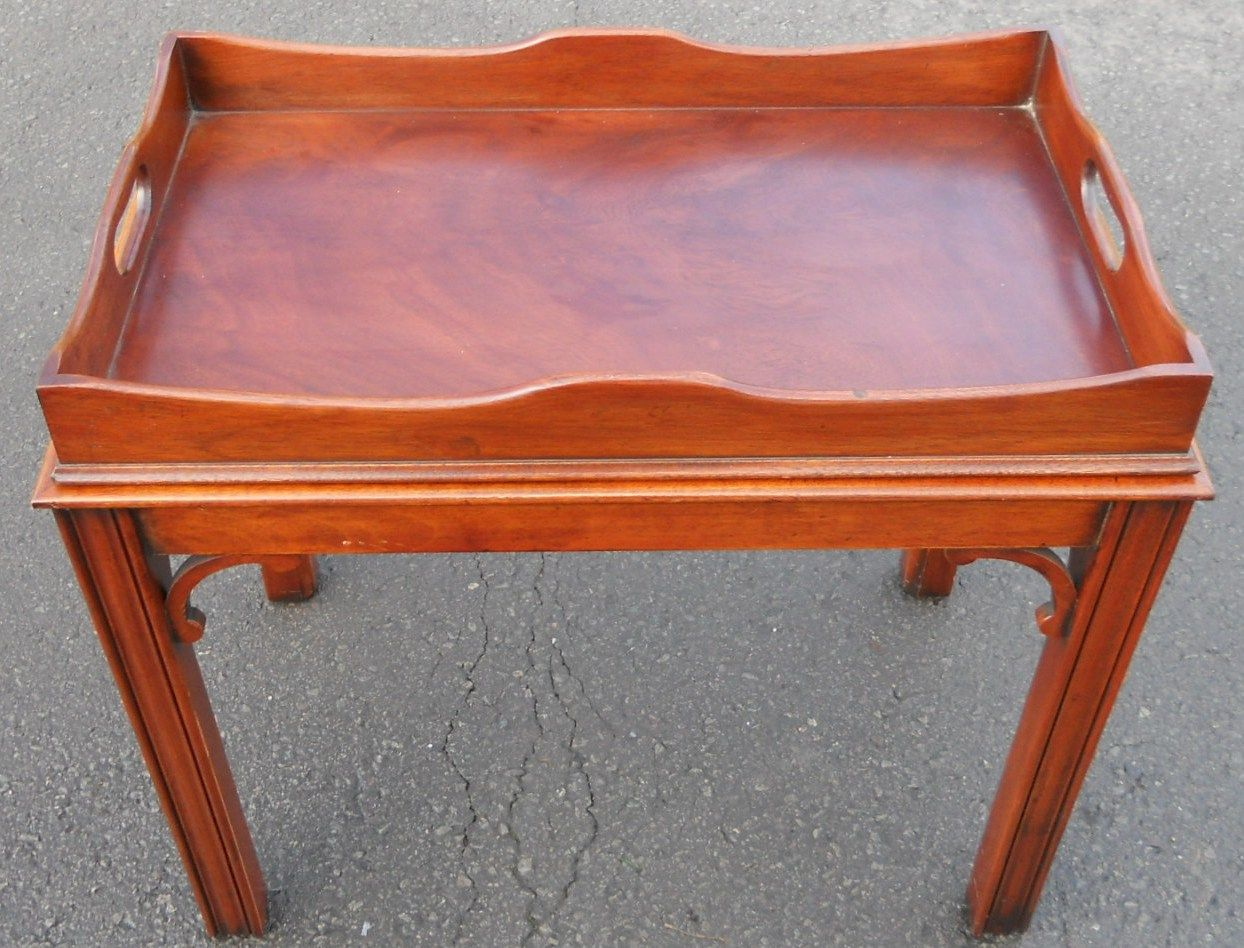 Georgian Style Mahogany Tray Top Coffee Table