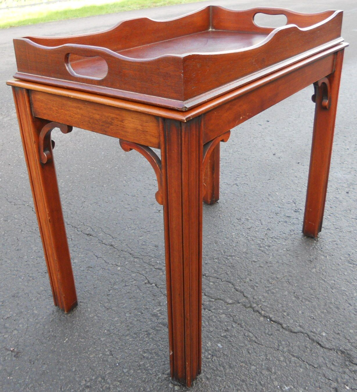 Coffee Table With Tray Top: Georgian Style Mahogany Tray Top Coffee Table