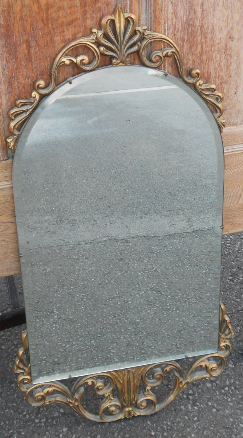 Gilt framed hanging wall mirror by atsonea for Mirror hangers