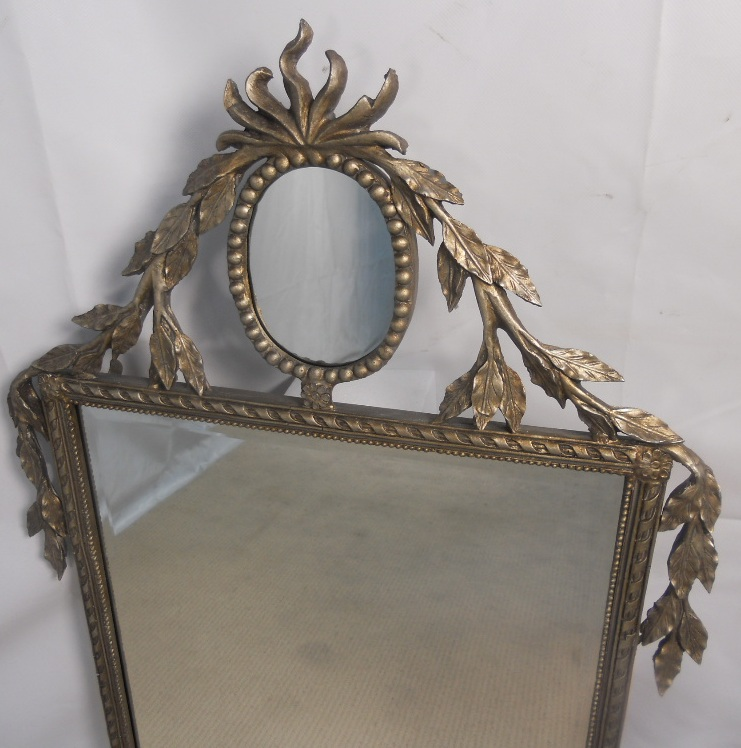 Large decorative silver gilt wall mirror for Big fancy wall mirrors
