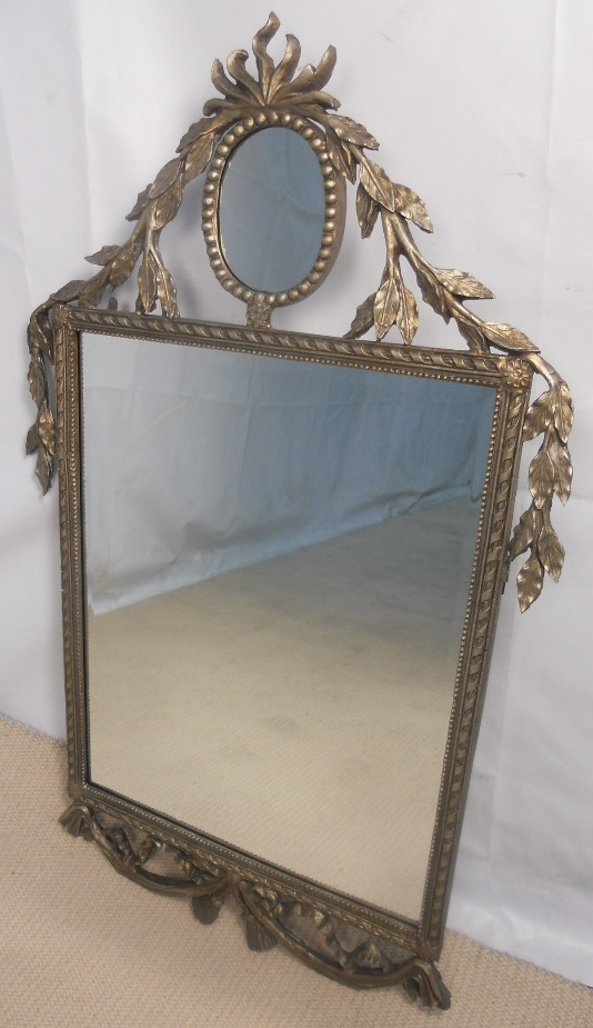 Large decorative silver gilt wall mirror for Large silver wall mirror