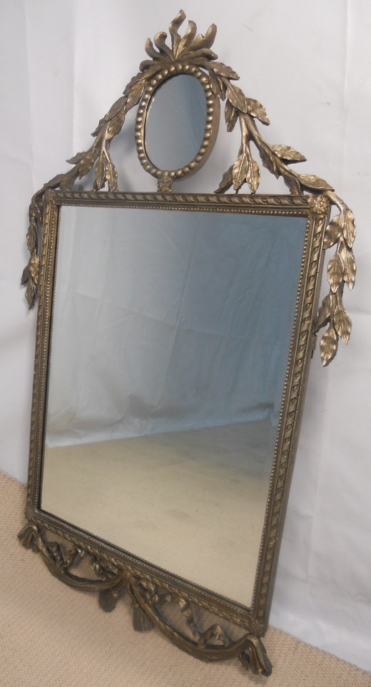 Large decorative silver gilt wall mirror for Large accent mirrors