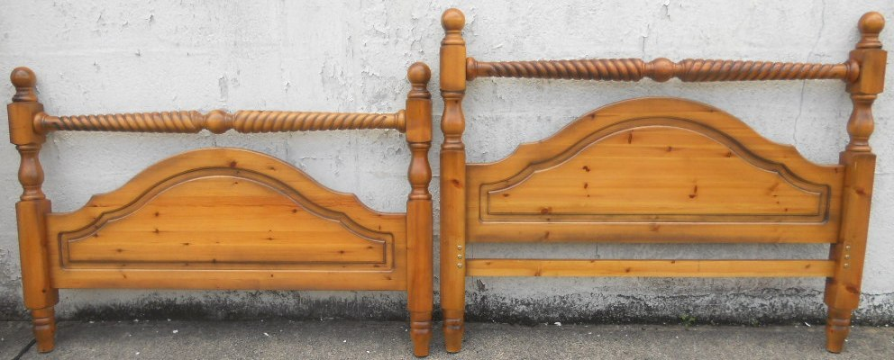 large double bed victorian style pine wood wide bed with slatted base
