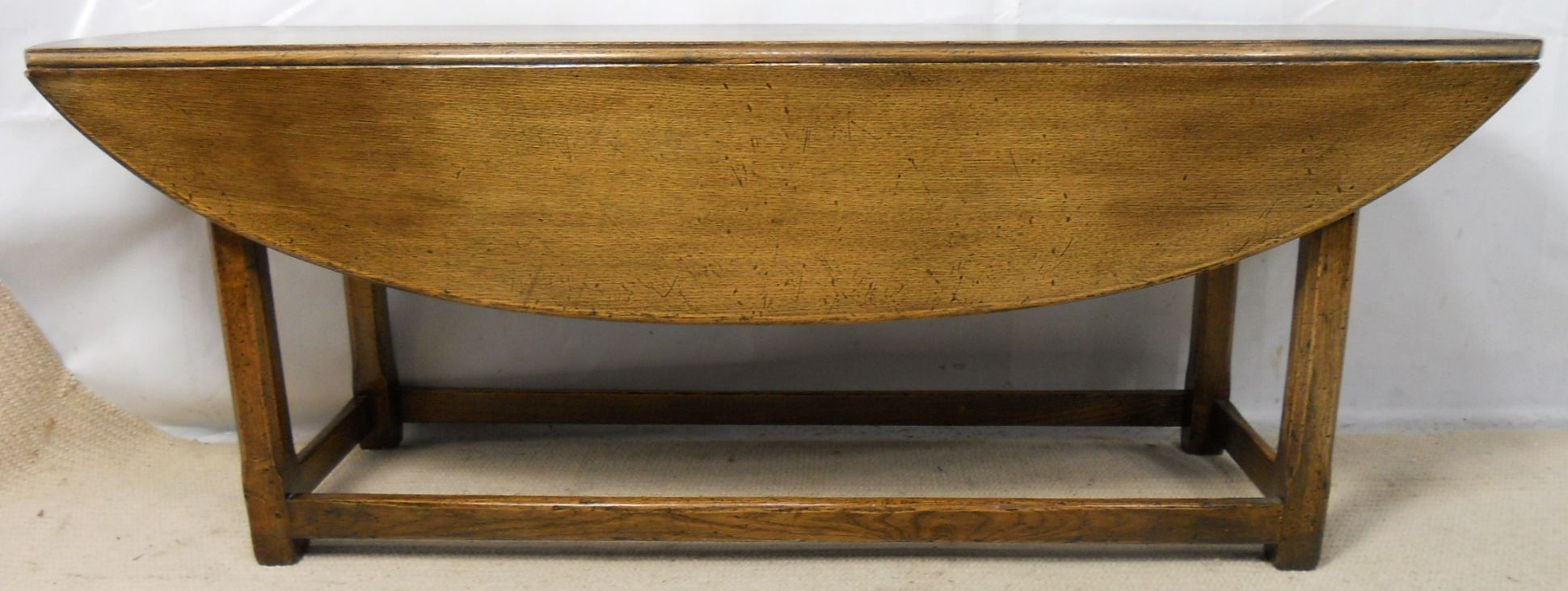 Large Dropleaf Narrow Oak Coffee Table By Titchmarsh Goodwin