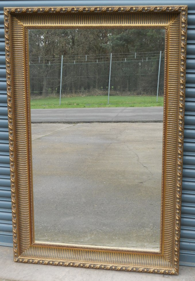 Large gilt hanging wall mirror sold for Hanging a large mirror