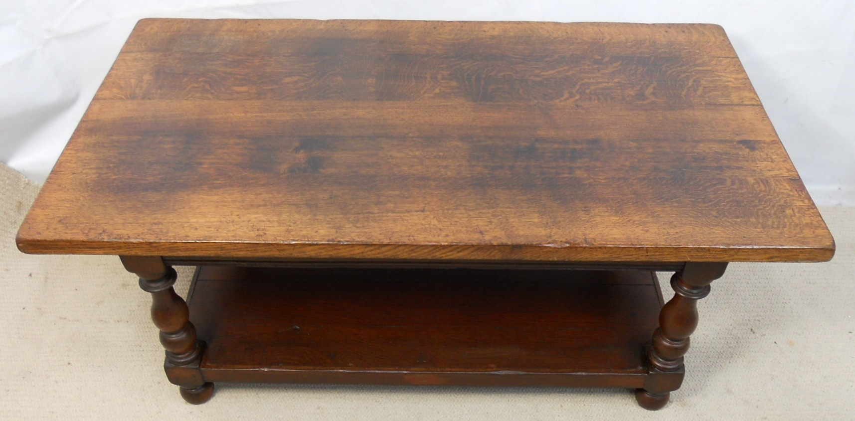 Large Heavy Oak Coffee Table