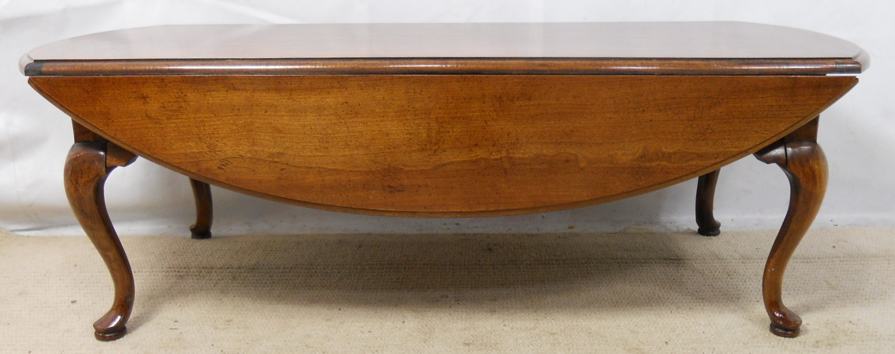 Oval Mahogany Dropleaf Coffee Table