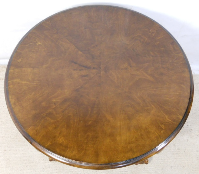Large Round Walnut Coffee Table Sold