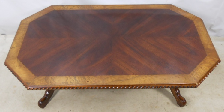 Large Victorian Style Mahogany Coffee Table Sold