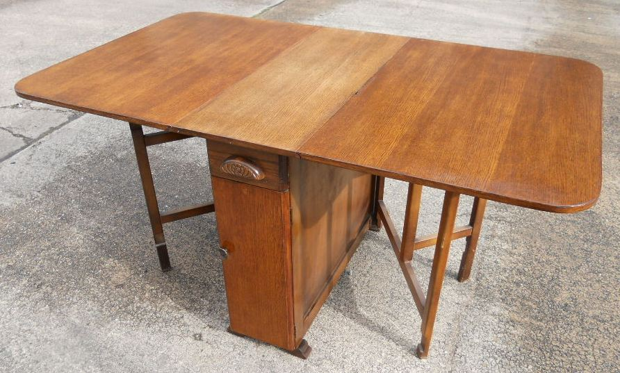Light Oak Dropleaf Dining Table To Seat Six Sold