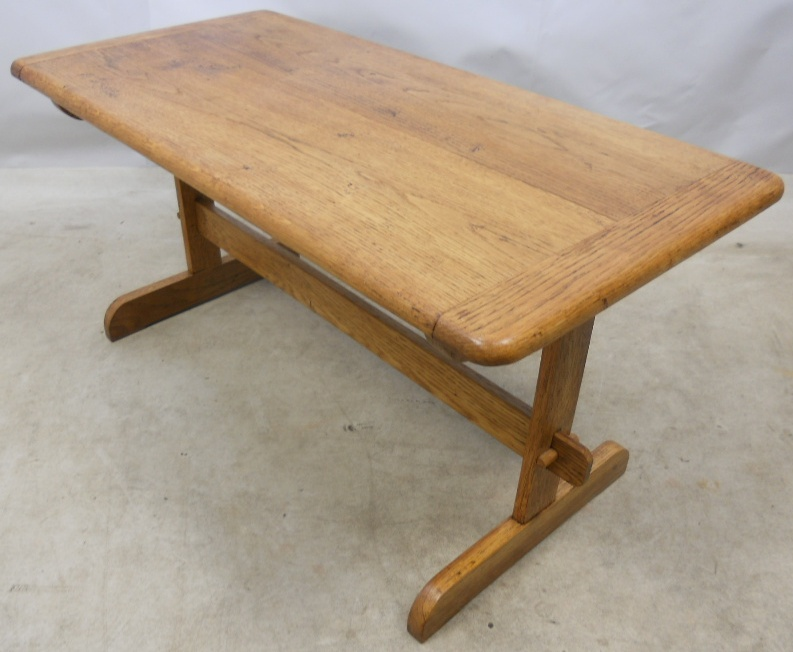 Light oak refectory style coffee table Light oak coffee tables