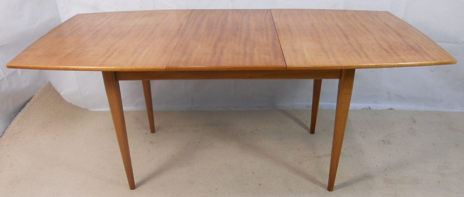Light Teak Extending Dining Table to Seat Eight by Gordon  : light teak extending dining table to seat eight by gordon russell sold 1975 p from www.harrisonantiquefurniture.co.uk size 957 x 407 jpeg 146kB