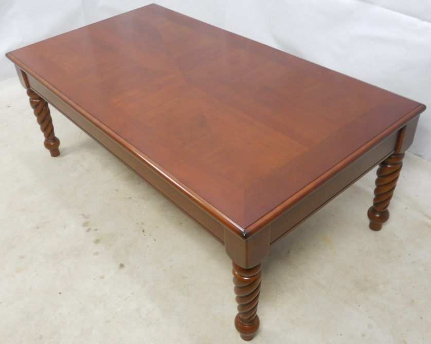 Long Mahogany Wood Coffee Table Sold