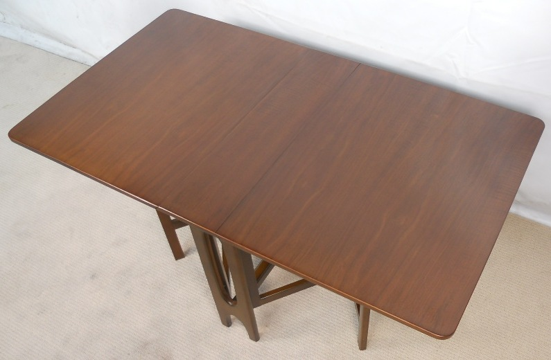 Mahogany Dropleaf Spacesaver Dining Table To Seat Eight SOLD