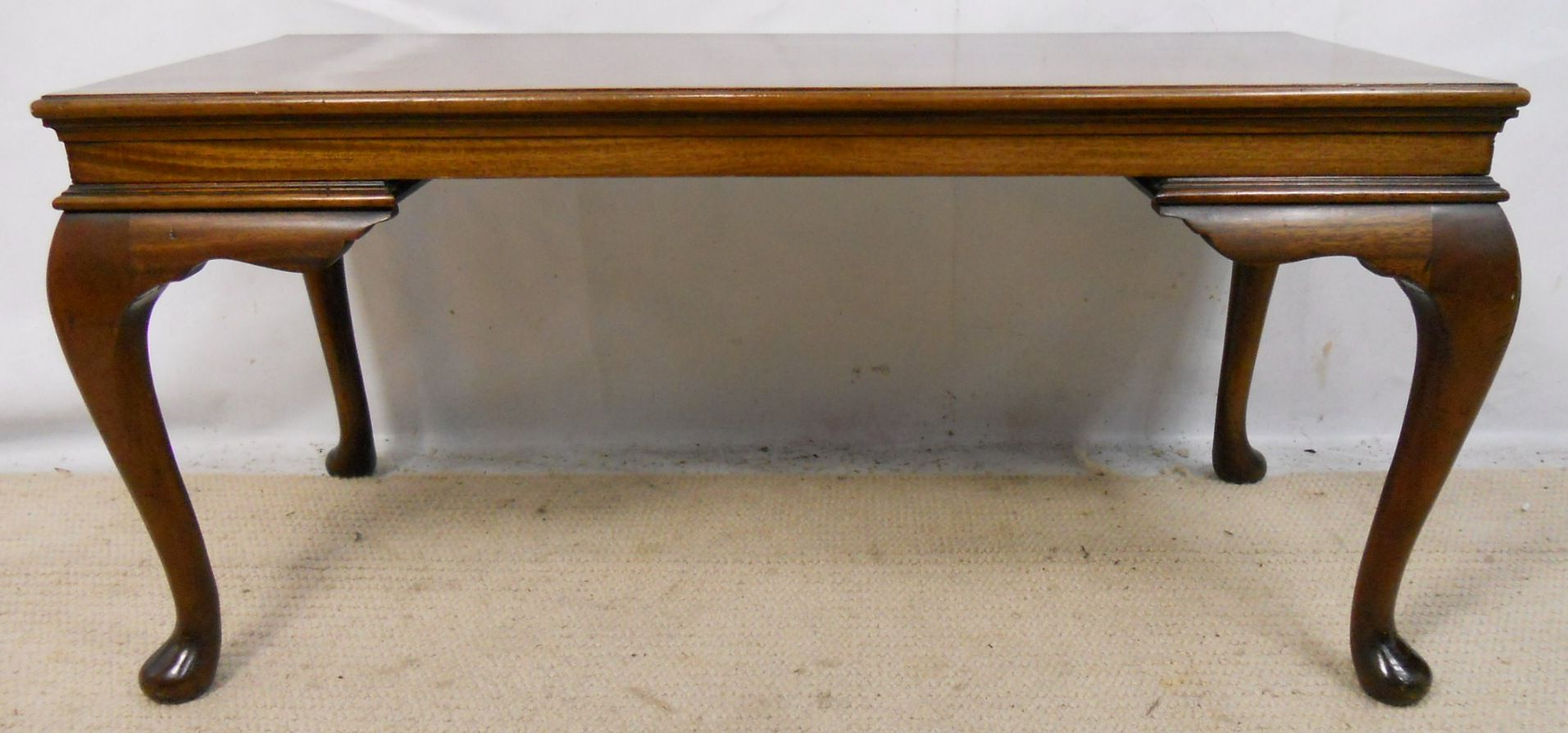 Mahogany long coffee table in antique georgian style Coffee table antique