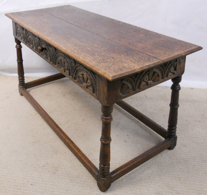 Oak Coffee Table In Antique Jacobean Style