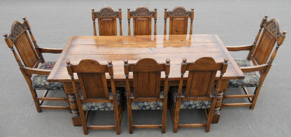 oak dining room suites   Oak Dining Room Suite by Hines of Oxford