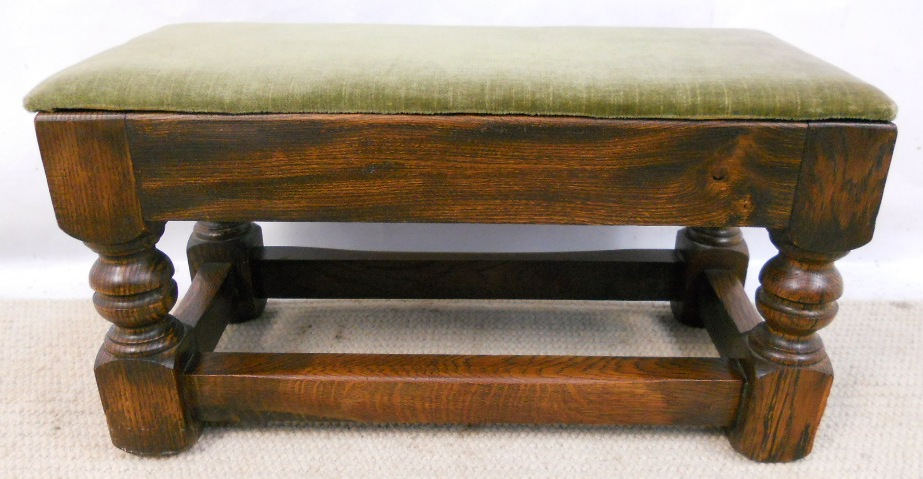 Oak Framed Upholstered Footstool SOLD : oak framed upholstered footstool sold 2839 p from www.harrisonantiquefurniture.co.uk size 923 x 479 jpeg 185kB