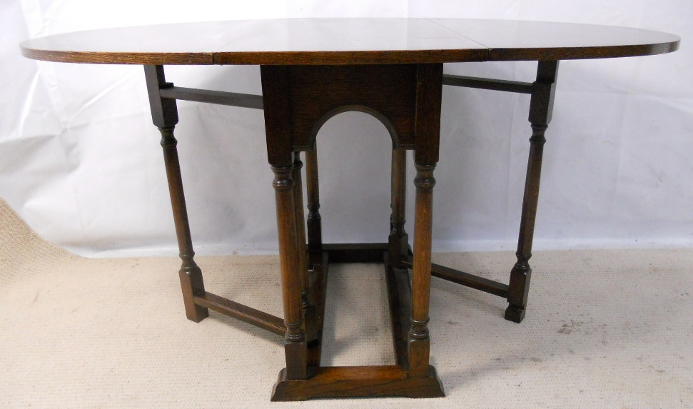Oak Reproduction Gateleg Dining Table SOLD