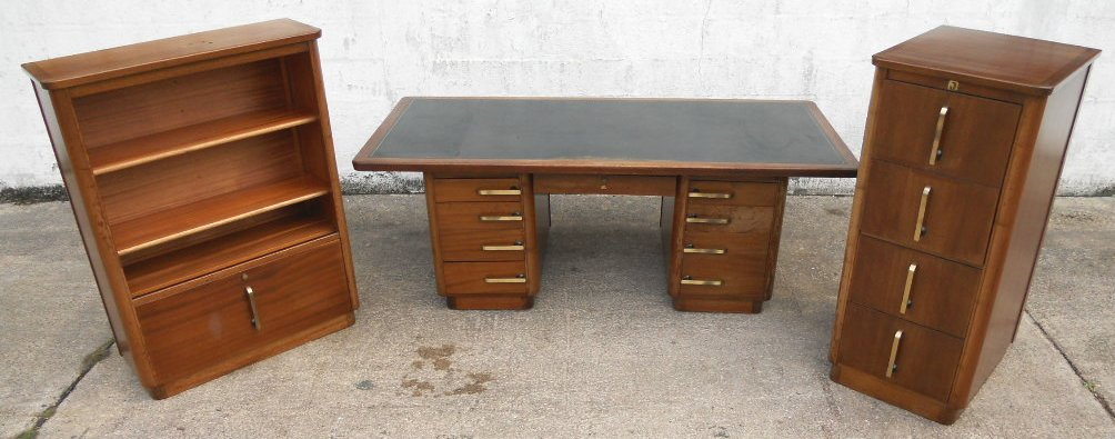 Office Writing Desk & Matching Filing Cabinet & Display Cabinet by ...