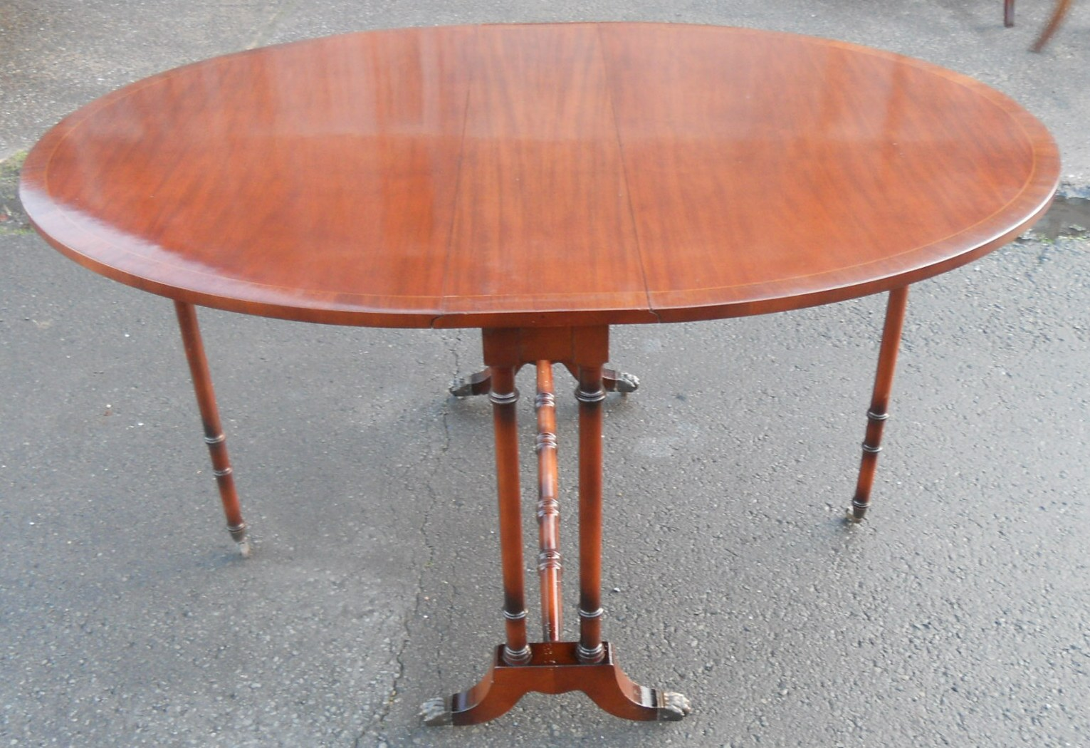 Oval Mahogany Dropleaf Dining Table To Seat Six SOLD