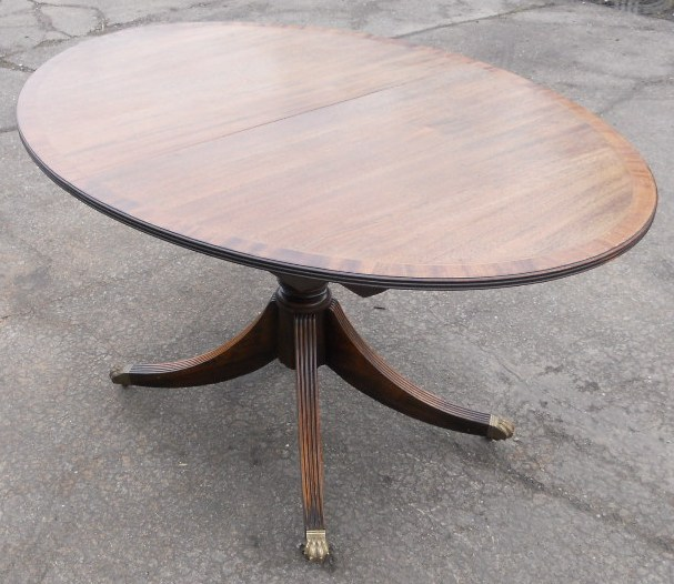 Oval mahogany extending dining table to seat eight sold for 12 seater oval dining table
