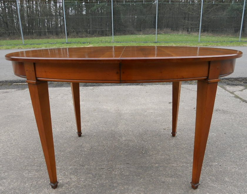 Oval Walnut Extending Dining Table To Seat Ten Sold