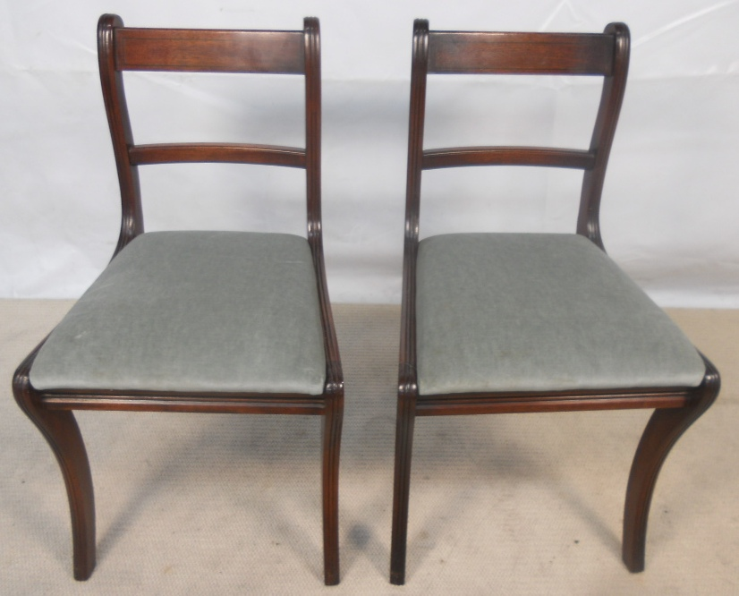 Pair Georgian Style Mahogany Dining Chairs by Reprodux SOLD : pair georgian style mahogany dining chairs by reprodux sold 1502 p from www.harrisonantiquefurniture.co.uk size 826 x 666 jpeg 192kB