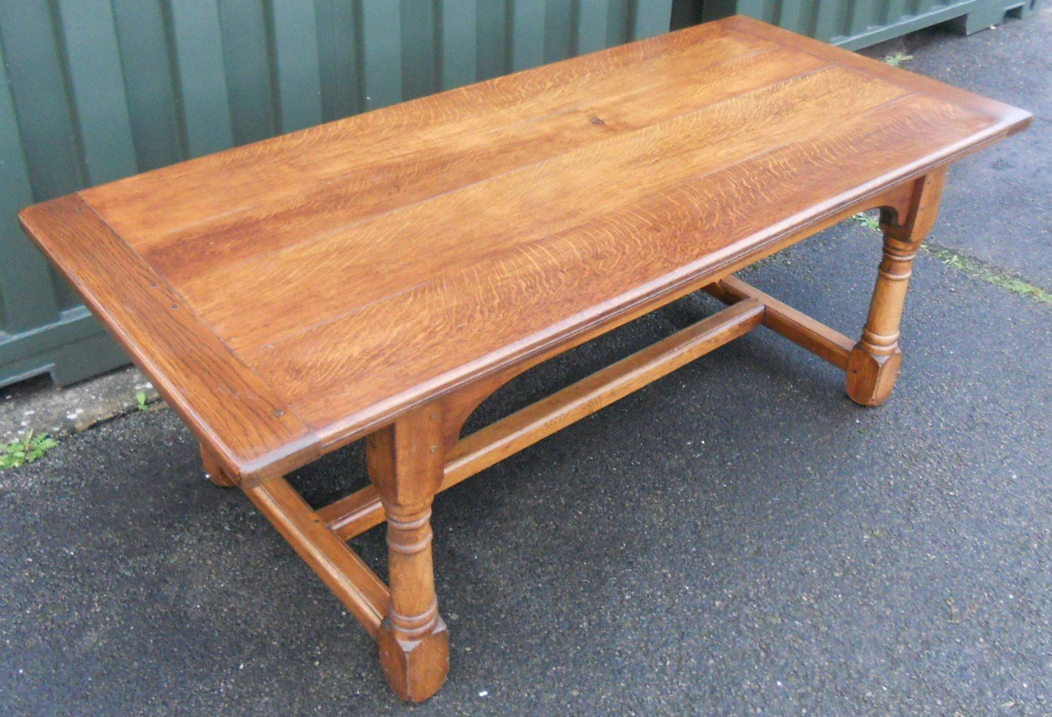 Quality craftsman made oak refectory dining table to seat for 10 seater dining table uk