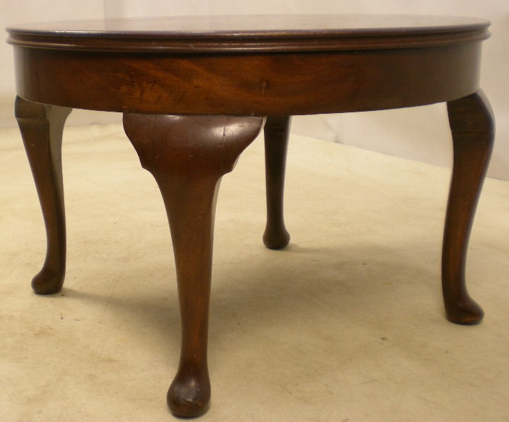 Queen Anne Style Round Mahogany Coffee Table SOLD : queen anne style round mahogany coffee table sold 979 p from www.harrisonantiquefurniture.co.uk size 729 x 605 jpeg 77kB