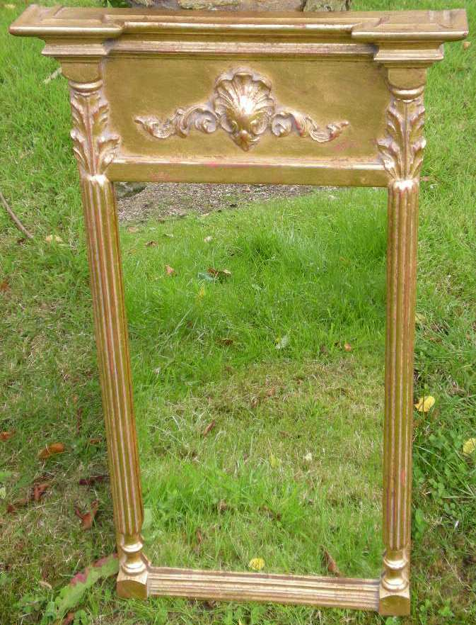 Regency style gilt framed small hanging wall mirror sold for Small hanging mirror
