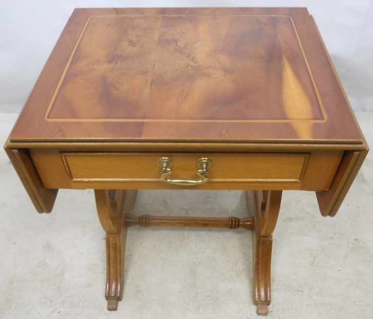 Regency style yew small dropleaf coffee table sold for Yew sofa table