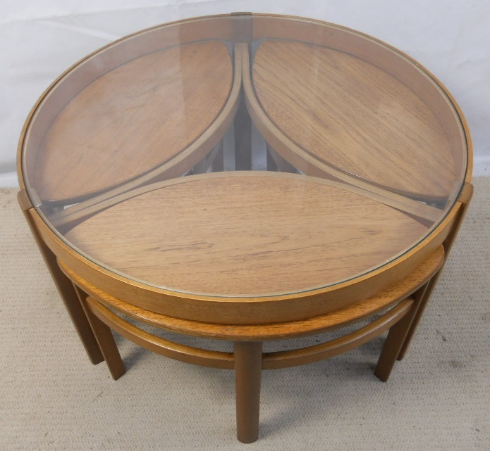 Retro Light Teak Circular Glass Top Coffee Table Nest of  : retro light teak circular glass top coffee table nest of tables by nathan sold 5B55D 3217 p from www.harrisonantiquefurniture.co.uk size 695 x 641 jpeg 171kB