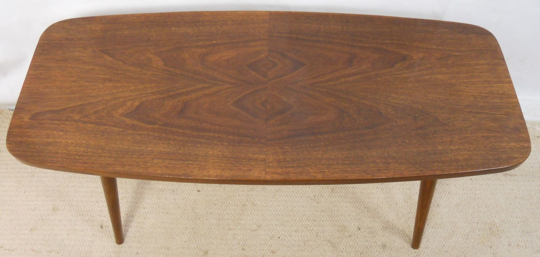 Retro Walnut Finish Long Coffee Table Sold