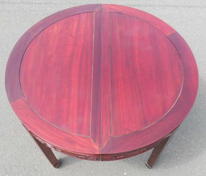 round extending dining table eight matching dining chairs