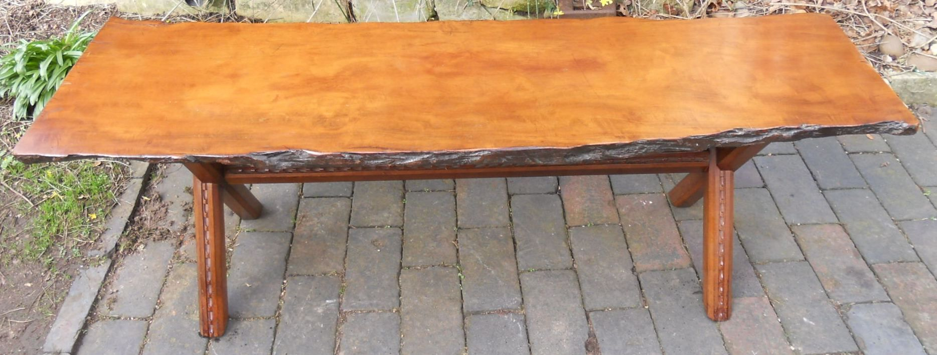 Rustic elm five foot long coffee table for Long rustic table