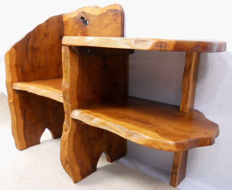 Rustic wooden seat hall table sold Wooden hallway furniture